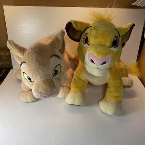 Disney Store The Lion King Plush Simba and Nala Stuffed Animal Toy Lot
