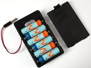 Adafruit 6 x AA battery holder with 5.5mm/2.1mm plug