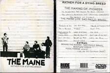 "THE MAINE ""Anthem For A Dying Breed"" (DVD) 2012 NEUF"