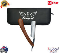 Straight Edge Barber Razor Blades Stainless Steel Shaving Knife Folding Cut NEW