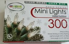 300 Clear Bulbs Mini Christmas  Lights Indoor Outdoor 61.5 FT-Green Wire