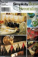 Simplicity Sewing Pattern 8434 Table Accessories Mantle Scarves Home Decorating