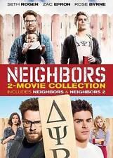 NEIGHBORS 1 & 2 SORORITY RISING DVD SETH ROGEN ZAC EFRON