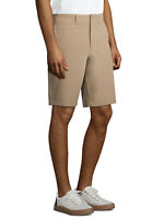 """NEW MENS GEORGE TEXTURED FLAT FRONT 10.5"""" CASUAL SHORTS STONE WASH KHAKI"""