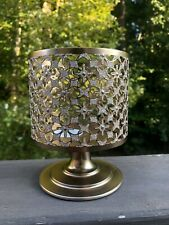 Bath & Body Works Glittery Gold 3 Wick Candle Pedestal Holder