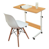 Adjustable Computer Desk | On Wheels | Wood