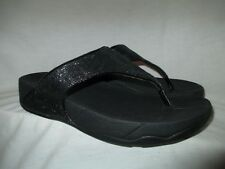 "NICE Black Sequin FITFLOP ""ELECTRA"" Sandals Flip Flops Thongs 41/9"