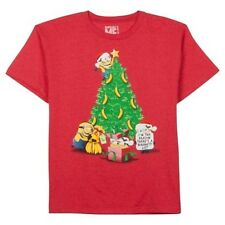 NEW Despicable Me Boys Girls Christmas Tree Red T-Shirt M Reason Naughty List