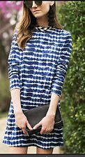Tory Burch Tie Dye dress XL Resort 2017 12 14 Blue Hollie