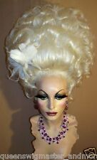 Drag Queen Wig Light Silver Blonde Marie Antoinette Up Do All Hair Up
