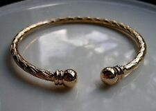 STUNNING 9ct Gold bracelet torque bangle gf ,SELLING OUT FAST! NOT MANY LEFT!