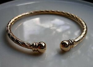 STUNNING 9ct Gold bracelet torque bangle gf ,SELLING OUT FAST! NOT MANY LEFT! 53