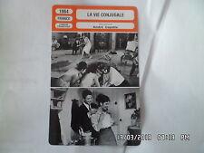 CARTE FICHE CINEMA 1964 LA VIE CONJUGALE Marie José Nat Jacques Charrier M.Subor