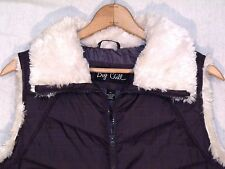 Big Chill full zip sherpa trim gray puffer vest / slightly slim XL / great / b13