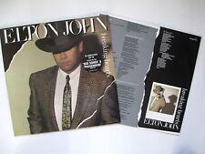 ELTON JOHN BREAKING HEARTS 1984 UK VINYL LP PICTURE/LYRIC INNER SLEEVE EX/EX