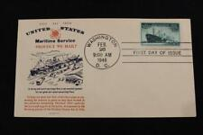NAVAL COVER 1946 1ST DAY ISSUE HONORING THE MARITIME SERVICES (2891)