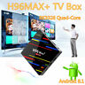 4GB 32GB H96 Max PLUS Quad Core Android 8.1 Smart TV Box RK3328 4K HD DDR3 WiFi