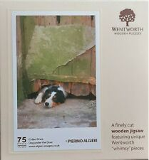 wentworth wooden jigsaw puzzle. 75 pieces. Dog under the Door. Limited Stock
