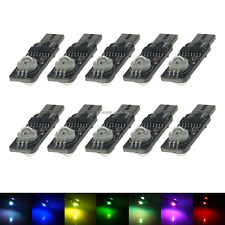 10x RGB RV T10 W5W Reverse Light Backup Bulb 2 LED 159 161 168 2521 Z20248