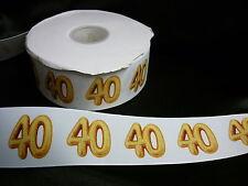 Cinta De Cumpleaños Pastel Decoración Pastel Artesanía - 50mm - 40 años cuarenta - 1m