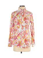 J. Mclaughlin Women's Bright Tropical Button Front Blouse Top Shirt Size Small