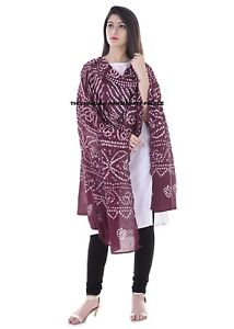 Indian Dupatta Neck Wrap Chunari Scarf Shawl Women Cotton Fashion Stole Scarves
