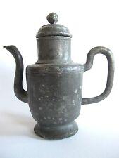 Antik Zinn Teekanne aus China mit Signatur
