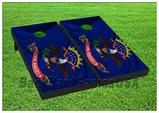 NORTH DAKOTA State Flag Custom Cornhole Boards BEANBAG TOSS GAME w Bags Set 295