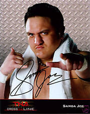 TNA SAMOA JOE SIGNED OFFICIAL 8X10 PROMO PHOTO W/ PROOF