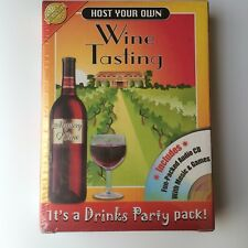 Drinks Party Game Host Your Own Wine Tasting Party Kit Cheatwell New Sealed Box