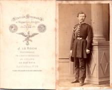 Le Roch, Saumur, Homme en tenue militaire, Ecole impériale de Cavalerie Vintage