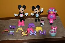 DISMEY MINNIE MOUSE LOT 17 SNAP OUTFITS BOWS SHOES FIDO MOTORCYCLE HELMET GUC