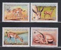 AK34 - ANIMAL KINGDOM STAMPS LIBYA 1987 GAZELLE WWF MNH