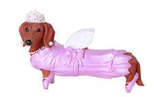 NEW Hot Dog DACHSHUND Puppy Figurine FAIRY PINK GODMOTHER Doxies Weiner Statue