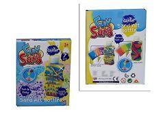 Childrens Kids Glow or Glitter Fun Sand Make Your Own Art Bottle Craft Kit