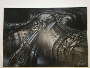 HR Giger Alien Prometheus Erotomechanics VIII (Strings) Silkscreen 1980 v. rare!