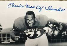 Charlie Maddog Thornhill (D) Autographed 8x10 Michigan State with  Tick COA