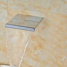 Wall Mount Square Chrome Faucet Spout Waterfall Spout Tub Spout Replacement