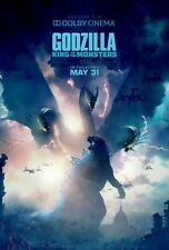"""Godzilla King of the Monsters Poster 36x24"""" 21x14"""" Dolby 2019 Print Silk"""