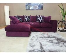 New DYLAN ZINA Purple FABRIC CORNER SOFA