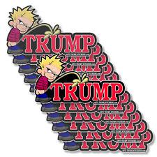 """Anti Trump Calvin Peeing Decals Impeach Trump 10 pack of bumper stickers 5"""" wide"""