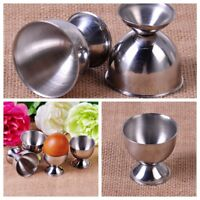 4pcs Egg Cups Holder Tabletop Cup Stainless Steel Soft Boiled Kitchen Tool Set