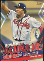 🔥 2020 Ronald Acuna Jr. /50 Topps Update Highlights GOLD Parallel Braves TRA-18