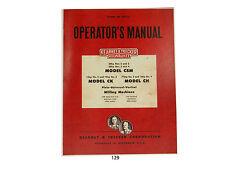 Kearney Trecker Milwaukee Csm Ck Ch Milling Machine Operators Manual 129