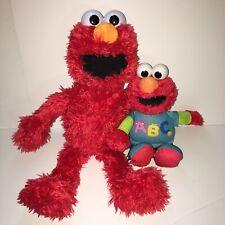 "22"" & 14"" Talking Elmos Set Of 2 Singing Play All Day Sesame Street Plush Toy"