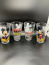 New listing Mickey Mouse drinking glasses Set Of 4