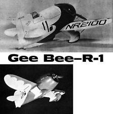 "Model Airplane Plans (UC): Gee Bee R-1 Scale 28"" for .25-35 by Paul Del Gatto"