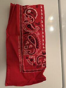 NEW Bandana RED/BLACK/WHITE