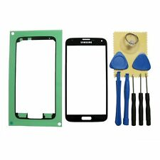 Black Front Glass Screen Replacement Repair Kit For Samsung Galaxy S5