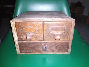 Antique Salvage Oak Rolltop Desk Insert 3 Drawer w Hardware Cubbie Parts